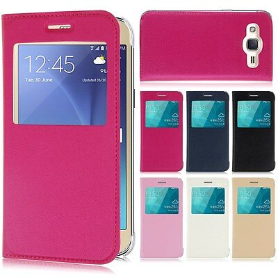 CUSTODIA COVER CASE FLIP LIBRO VIEW per SAMSUNG GALAXY J1 J2 J5 J7 (2016)