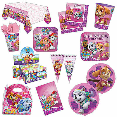 Paw Patrol Pink Children's Birthday Party Supplies Plates Tableware Listing