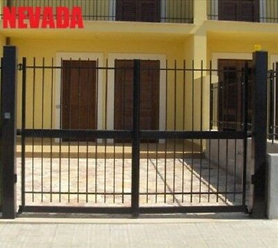 Double gates panel fencing railing galvanized wrought iron (Nevada)