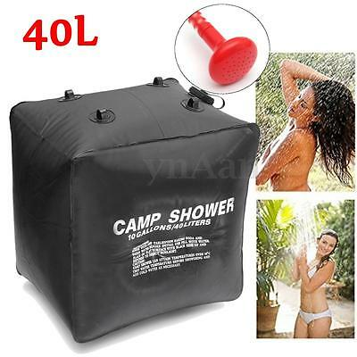 40L Portable Solar Heated Shower Water Bag Bathing Outdoor Camping Hiking Travel