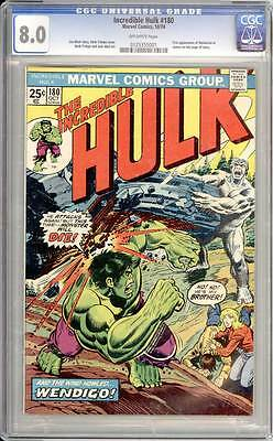 Incredible Hulk # 180  First Appearance of Wolverine  CGC 8.0  scarce book !