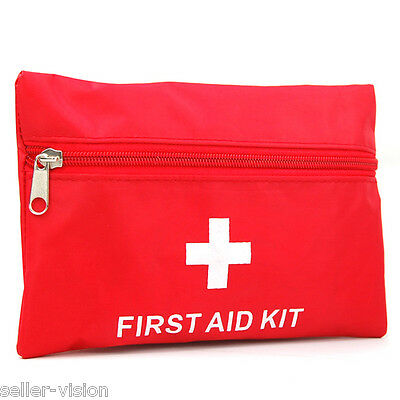 1st First Aid Kit Carry Bag Pouch Camping Car Emergency Holiday Travel 38 Pieces