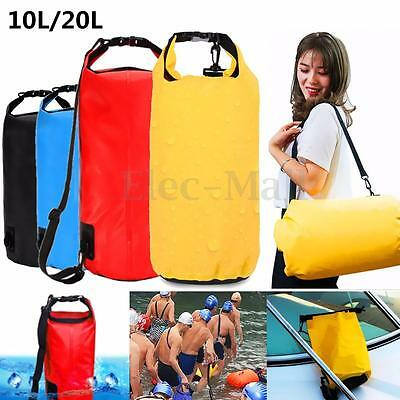 10/20L Waterproof Storage Dry Bag Hiking Swimming Sports Canoe Outdoor Camping