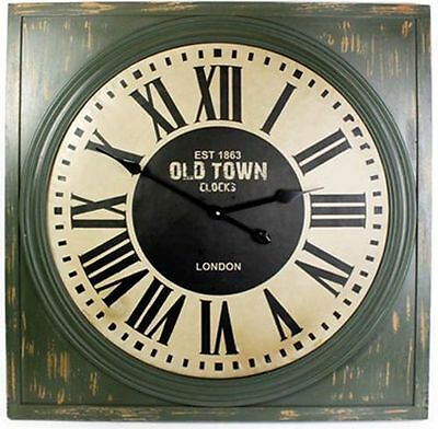 Square Wall Clock ~ Est 1863 Old Town Clocks London