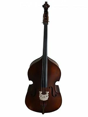 Double Bass 3/4 size full-carved, brown-matte new - Made in Europe