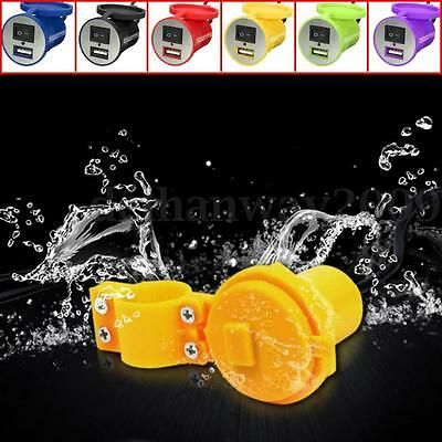 12V Motorcycle Bike Scooter USB Charger Power Adapter Socket Switch Waterproof