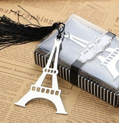 FD3384 Eiffel Tower Creative Exquisite Alloy Bookmarks With Ribbon Box Gift ^