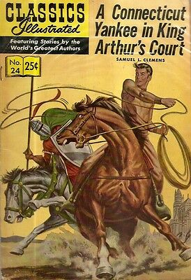 CLASSICS ILLUSTRATED. No. 24, 1971. A CONNECTICUT YANKEE IN KING ARTHUR'S COURT