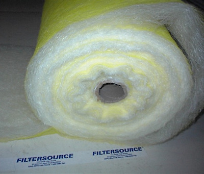 "Paint Spray Booth Floor Filter Roll-25""x300Ft-Premium"