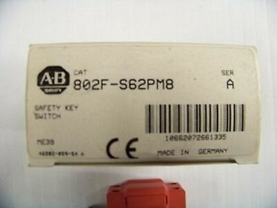 Allen Bradley #802F-S62PM8/A Saftey Key Switch  (N) 1/2/1