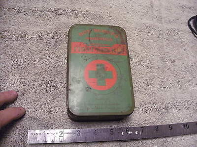 Vintage Metal Official Boy Scout Belt First Aid Kit With some First Aid Items