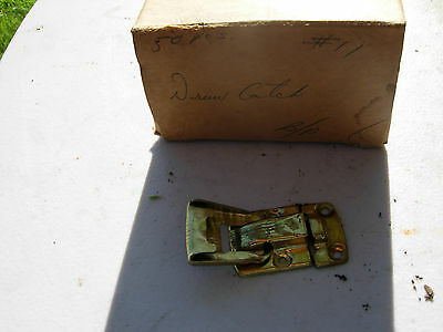 Box Of 50 Brass Plated Draw Catches Trunk Suitcase Box Closure Inches Many Uses