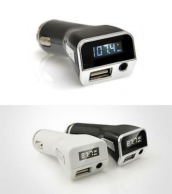 Wireless Radio FM Transmitter PLMP2A w/ USB Port Charging AUX Input Car charger