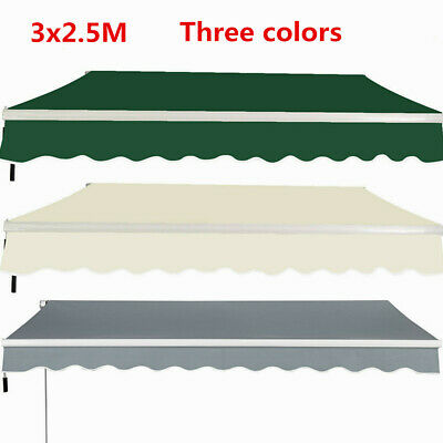 3x2.5M Manual Awning Garden Patio Shade Shelter Retractable Front Door Canopy