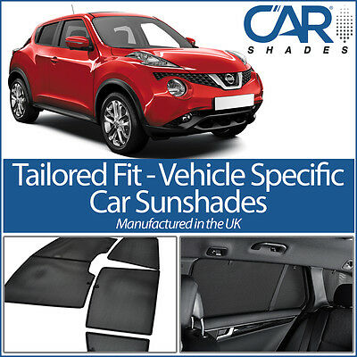 FITS Nissan Juke 5dr 2010 On UV CAR SHADES WINDOW BLINDS PRIVACY TINT BLACK