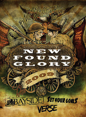 """New Found Glory 2009 """"not Without A Fight Tour"""" Poster"""