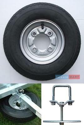 Trailer wheel 400 x 8 for Daxara 107,127 Erde 121,122 with SPARE WHEEL CARRIER
