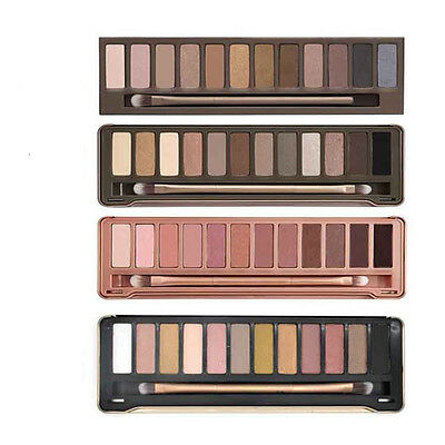 New 12 Color Smoky Eyeshadow Makeup Palette With Brush Long-lasting 1PC
