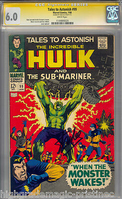 Tales To Astonish # 99 Cgc 6.0 White Pages Stan Lee Signed Cgc # 1144800020