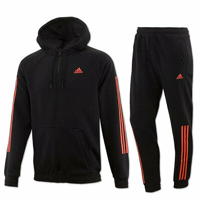 adidas Herren Trainingsanzug m. Kapuze ClimaLite Cotton Hooded Jogginganzug NEU