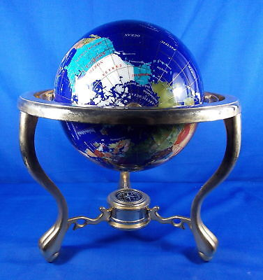 145 tall handcrafted gemstone world map globe with compass 145 tall handcrafted gemstone world map globe with compass gumiabroncs Image collections