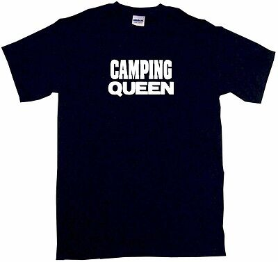 Camping Queen Kids Tee Shirt Boys Girls Unisex 2T-XL
