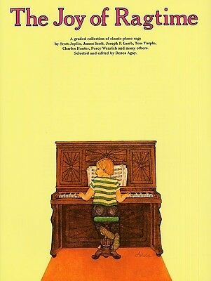 The Joy Of Ragtime Piano Book *NEW* Denes Agay Sheet Music Tuition