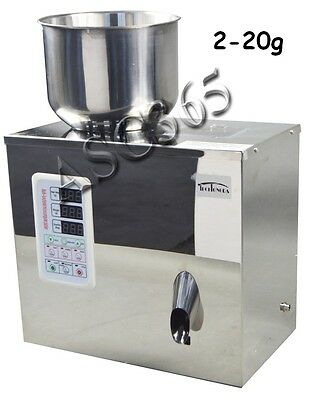 110V 1-20g Automatic Weighing Granular and Powder Filler  Machine Seeds Coffee