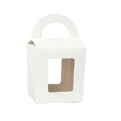 100  x White Wedding Lolly Candy Boxes Loot Party Bag Cupcake Box Bomboniere