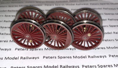Hornby X8420 Class A4 Loco Driving Wheel Set (Red)