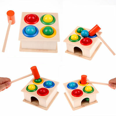 Hammering Wooden Ball Hammer Game Kids Children Early Learning Educational Toy