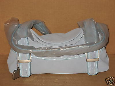 Longaberger Sisters Collection Blue Fold Over Purse BRAND NEW NEVER USED