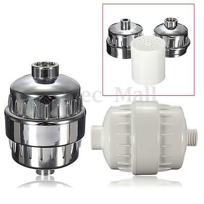 InLine Shower Filter Softener Chlorine Heavy Metal Removal Water Purifier Chrome