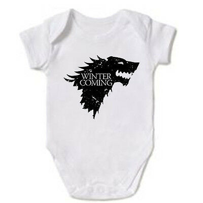 Winter Is Coming Game Of Thrones Baby Grow Gift Vest Bodysuit - All Sizes