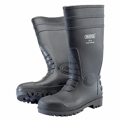Draper Work Wear S5 Safety Wellington Boots / Wellies With Metal Toecap