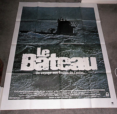 DAS BOOT/THE BOAT original WW2 SUBMARINE large movie poster JURGEN PROCHNOW