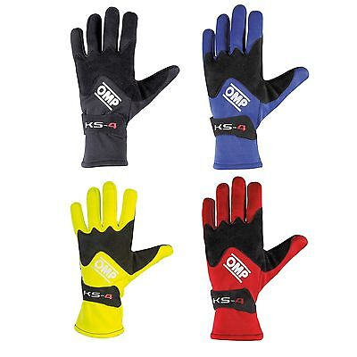 OMP KS-4 Gloves For Kart/Karting/Go Kart/Race/Racing/Track Day/Driving Gloves