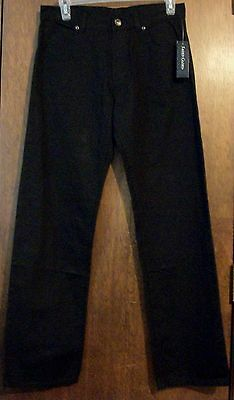 Boys Jeans sz 16 FADED GLORY Black Denim Straight Leg 100% Cotton NWT