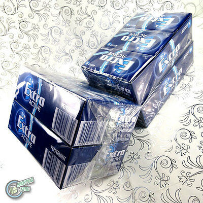 2x 24 x 14 EXTRA Active Chewing Gum Blue Peppermint SugarFree Wrigley's Wrigley