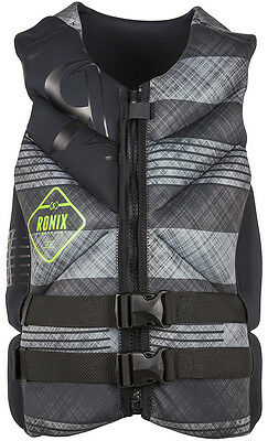 RONIX FORESTER CAPELLA Gilet 16 noir/gris plaid Wakeboard