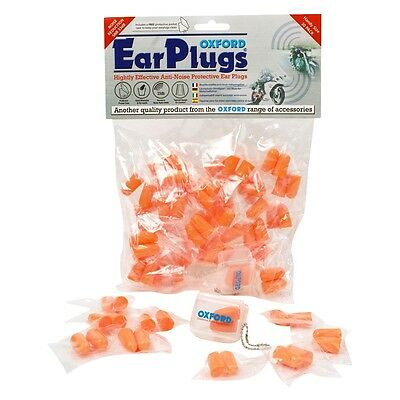 OXFORD MOTORCYCLE EAR PLUGS EARSOFT 33db 30 PACK ORANGE ANTI-NOISE - OF95