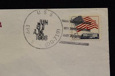 Naval Space Cover 1966 Gemini Gta-9 Recovery Ship Uss Epperson (Dd-719) (1971)