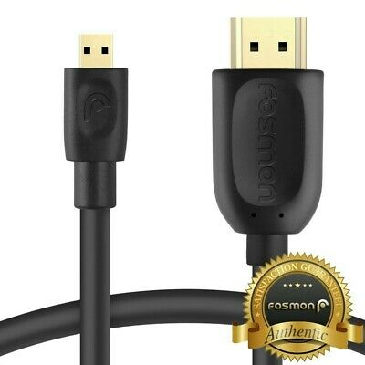 6FT Micro HDMI to HDMI M/M HDTV 1080P Cable Adapter for GoPro HD HERO 3 LG Sony