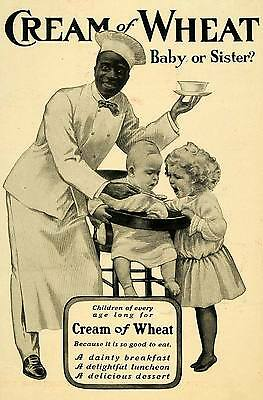 1906 Ad Cream Wheat Breakfast Cereal Rasmus Chef Baby Highchair Girl Spoon LHJ6