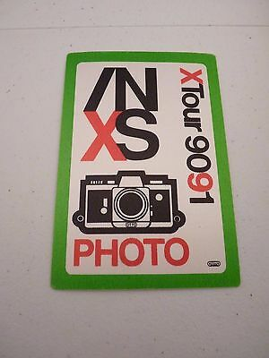 INXS X Tour 90 91 Photo Backstage Concert Pass Green