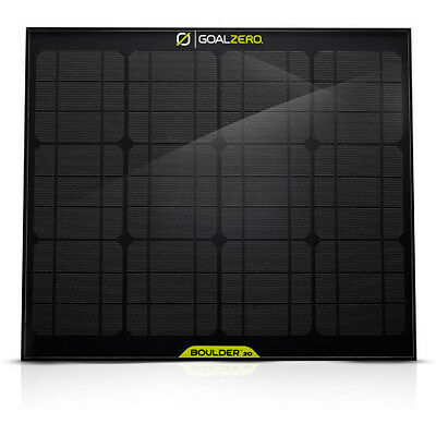 Goal Zero Boulder 30 Unisex Adventure Gear Solar Panel - Black One Size