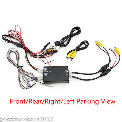 Car Front Rear Left Rear Parking View 4 ways Camera Video Switch Converter Box