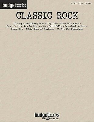 BUDGET BOOKS - Classic Rock Songs PVG Book *NEW* Sheet Music Piano Vocal Guitar
