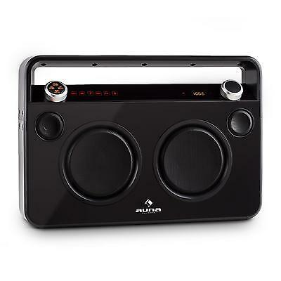 Portable Boombox Stereo Speaker Fm Radio Tuner Bluetooth Usb Aux Karaoke Music
