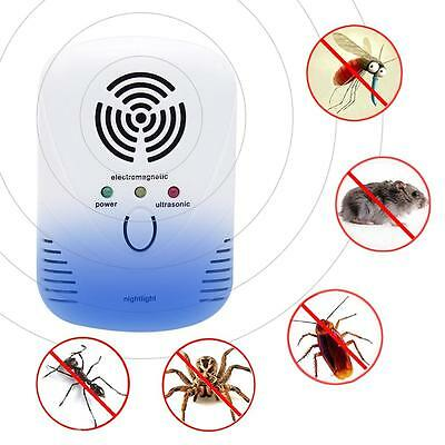 Dual Wave Bands Pest Control Repellent for Cockroach Against Mouse Night Light